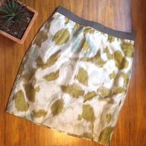 Loft 2P lined midi pencil skirt